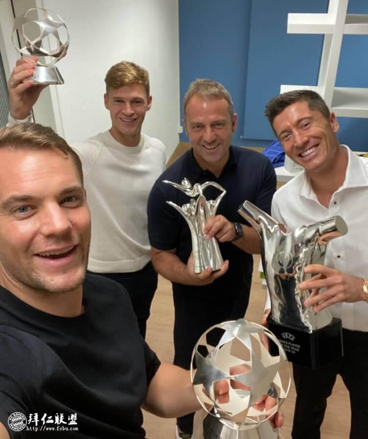 拜仁几乎包揽欧足联所有年度最佳奖项!1