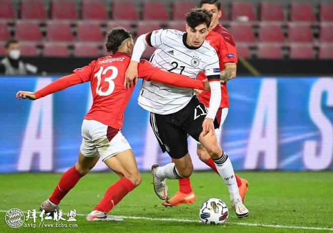 欧国联 德国主场3:3险平瑞士 格纳布里神龙摆尾绝平1