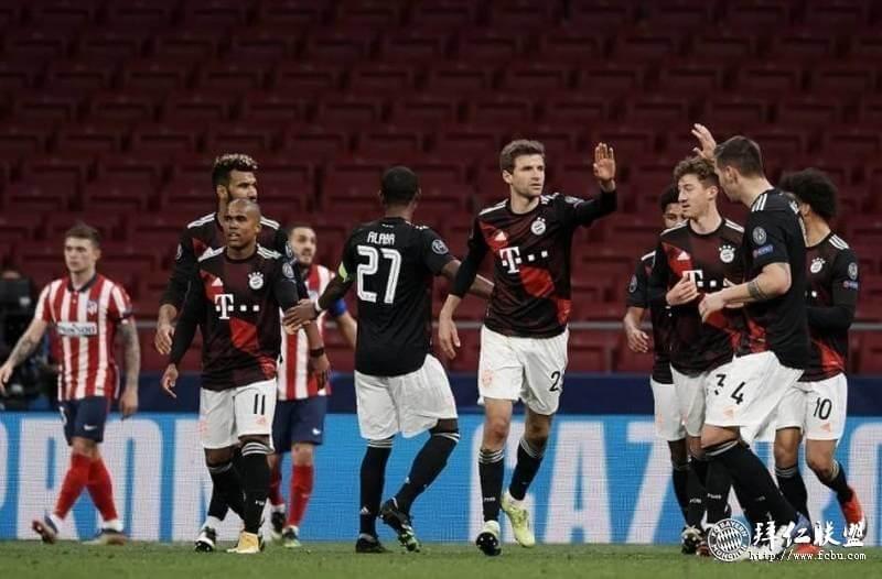 欧冠 马竞1:1拜仁大幅轮换 穆勒点射 15连胜纪录终止1