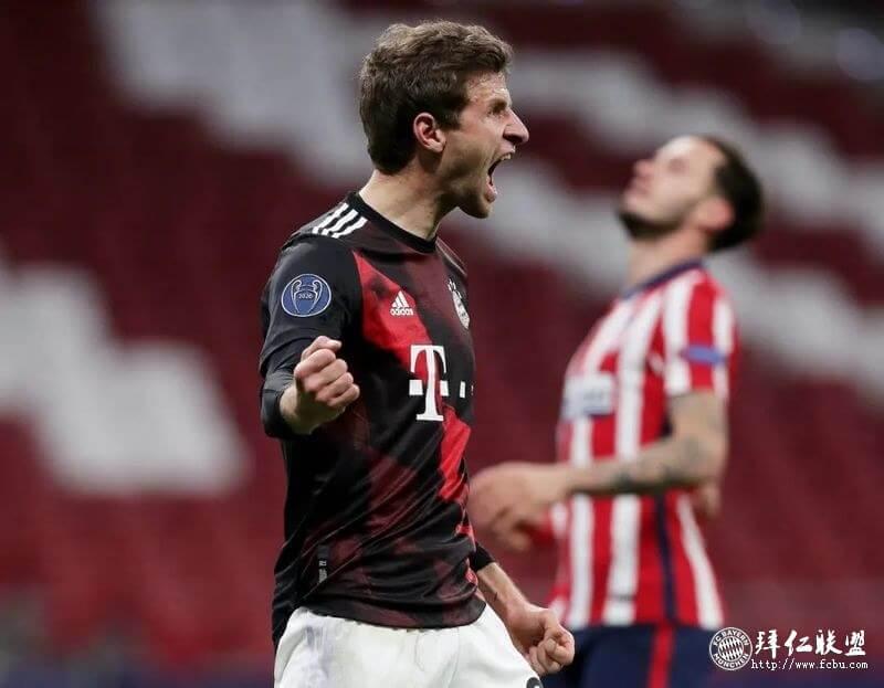 欧冠 马竞1:1拜仁大幅轮换 穆勒点射 15连胜纪录终止3