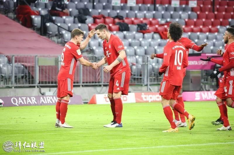 德甲第14轮 拜仁两球落后逆转大胜美因茨 迎新年开门红1