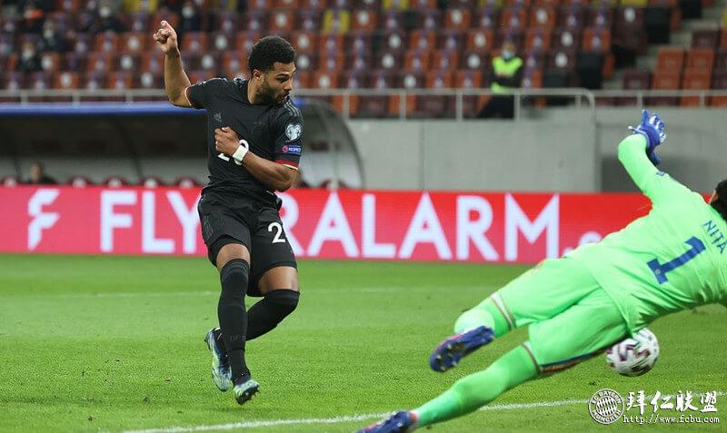世预赛 罗马尼亚0:1德国 格纳布里攻入唯一进球